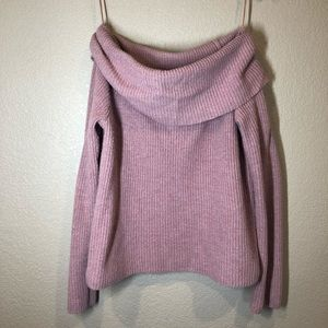 Off the shoulder knit sweater size m